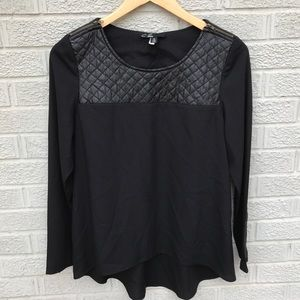 C. Luce Black Quilted & Zip Long Sleeve Top